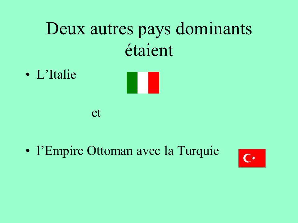 En Europe certains pays dominaient le continent Les pays démocratiques: La France La Grande Bretagne Les pays/empires avec des régimes autoritaires: l