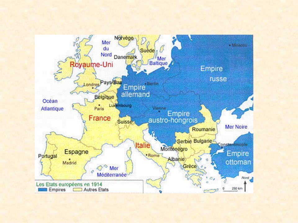 Deux autres pays dominants étaient LItalie et lEmpire Ottoman avec la Turquie