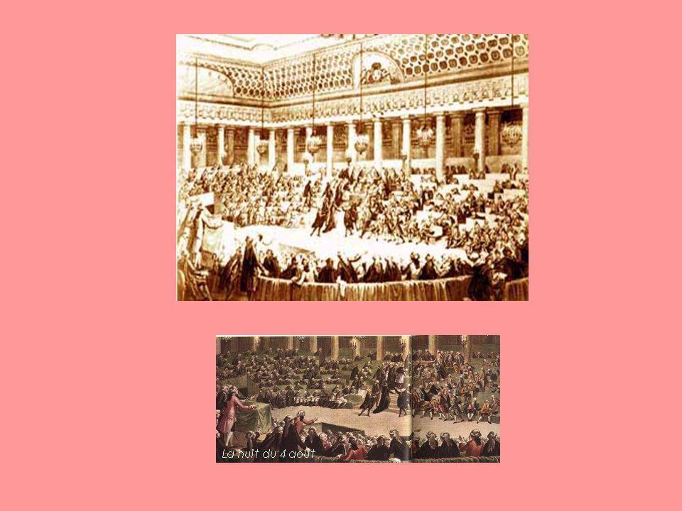 Le 4 août 1789 lAssemblée Constituante abolit les privilèges et met fin à lancienne organisation.