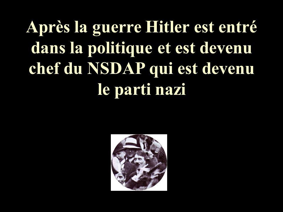 Comme beaucoup dAllemands Hitler nétait pas content des décisions du Traité de Versailles