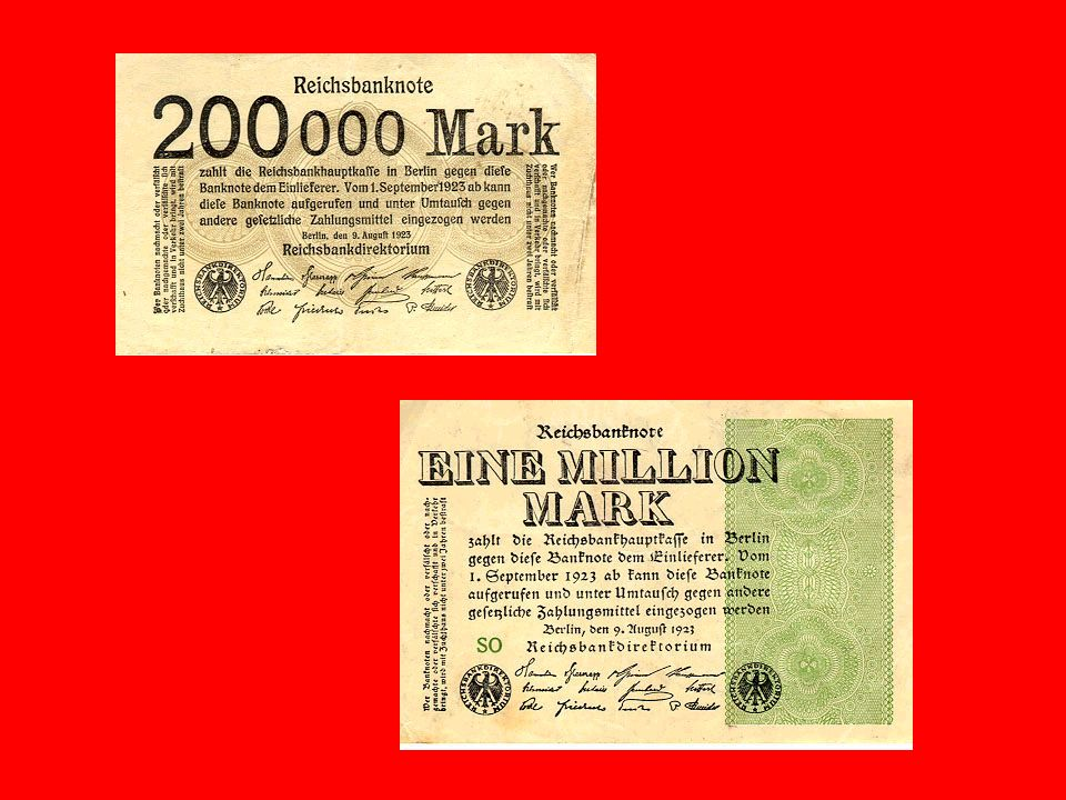 En 1923 lAllemagne était dans une situation économique catastrophique