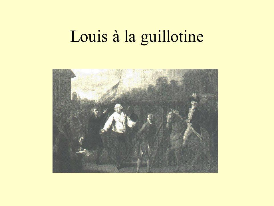 Louis à la guillotine