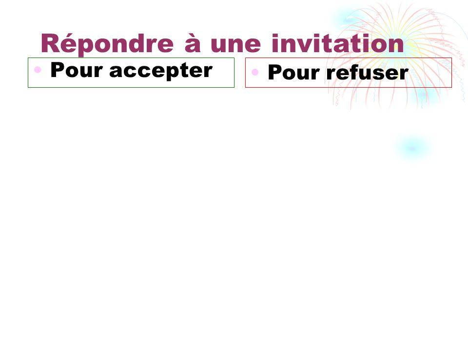 Accepter une invitation par carte ou mail