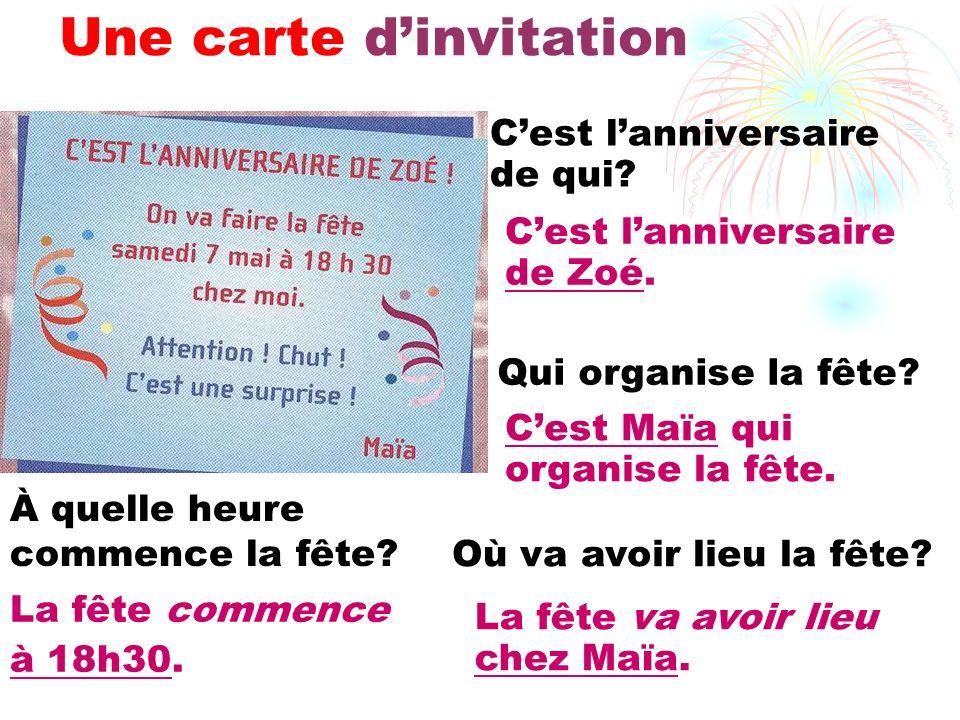 Une invitation par e-mail