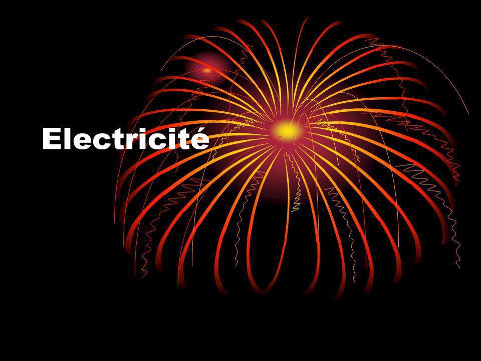 Vocabulaire Électricité: Forme dénergie créée par un courant délectrons circulant dans un fil ou un conducteur.