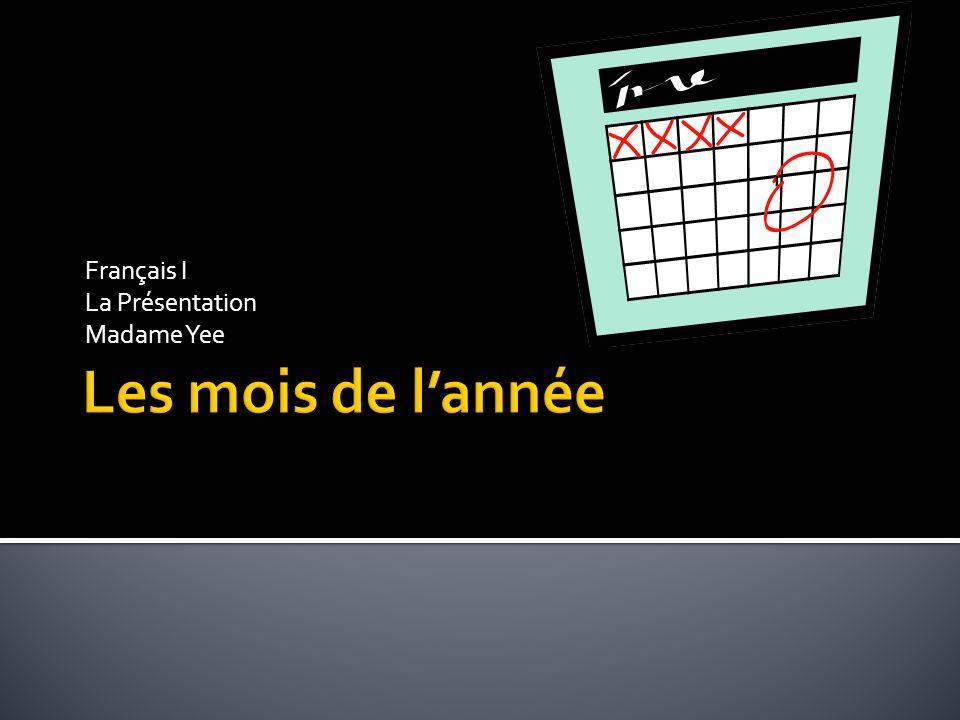 Français I La Présentation Madame Yee