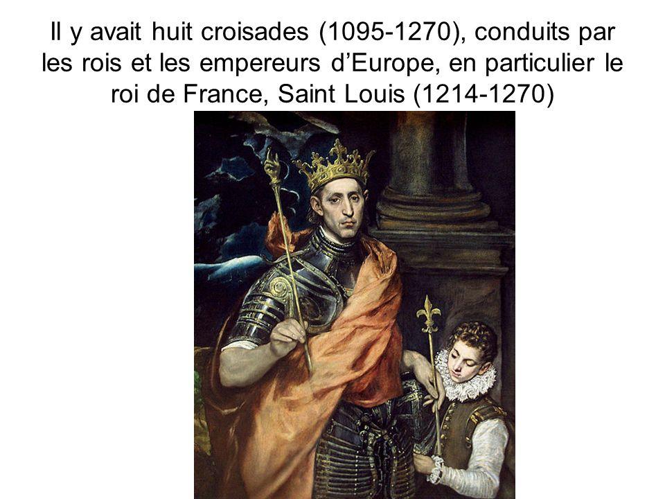 La mort de Saint Louis de la peste en 1270, cest la fin de la participation aux Croisades.