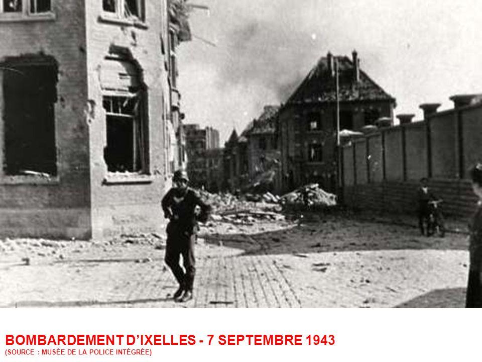 BOMBARDEMENT DIXELLES - 7 SEPTEMBRE 1943 COUVENT RUE FRITZ TOUSSAINT (SOURCE : MUSÉE DE LA POLICE INTÉGRÉE)