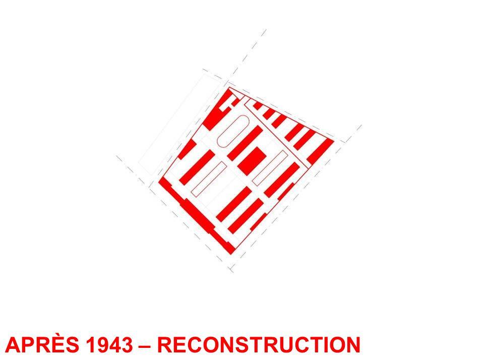 APRÈS 1943 – RECONSTRUCTION