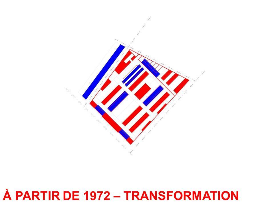 À PARTIR DE 1972 – TRANSFORMATION