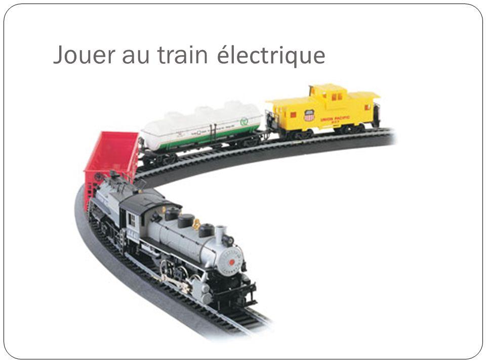 Jouer au train électrique