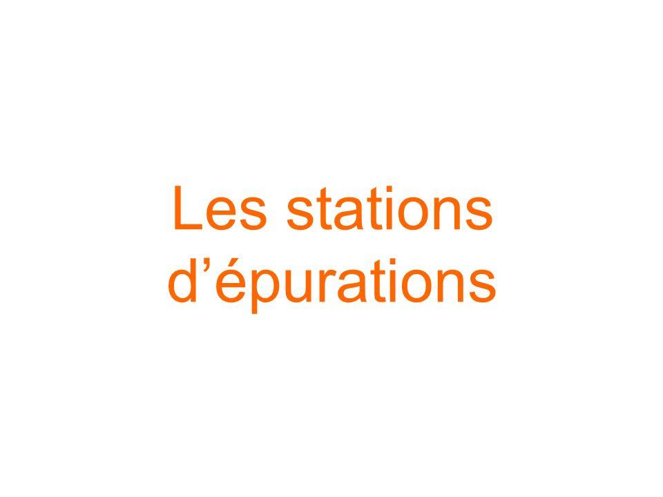 Les stations dépurations