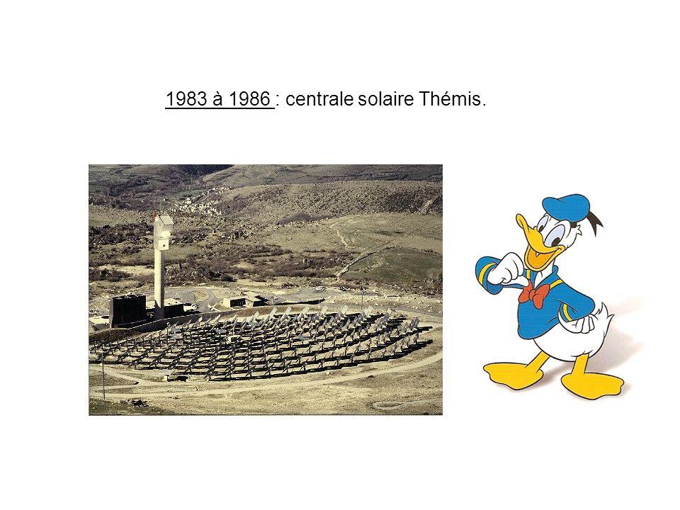 1983 à 1986 : centrale solaire Thémis.