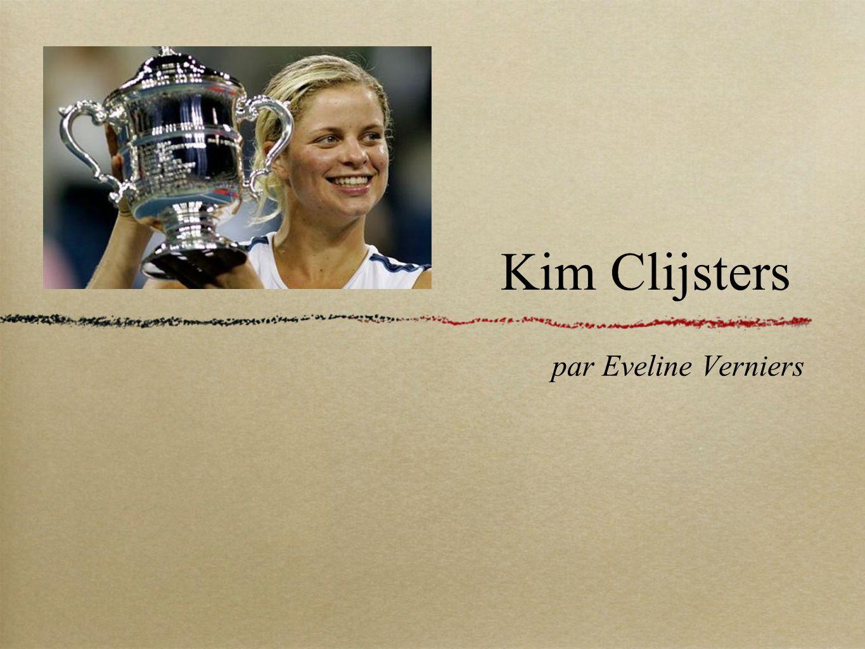 Kim Clijsters par Eveline Verniers