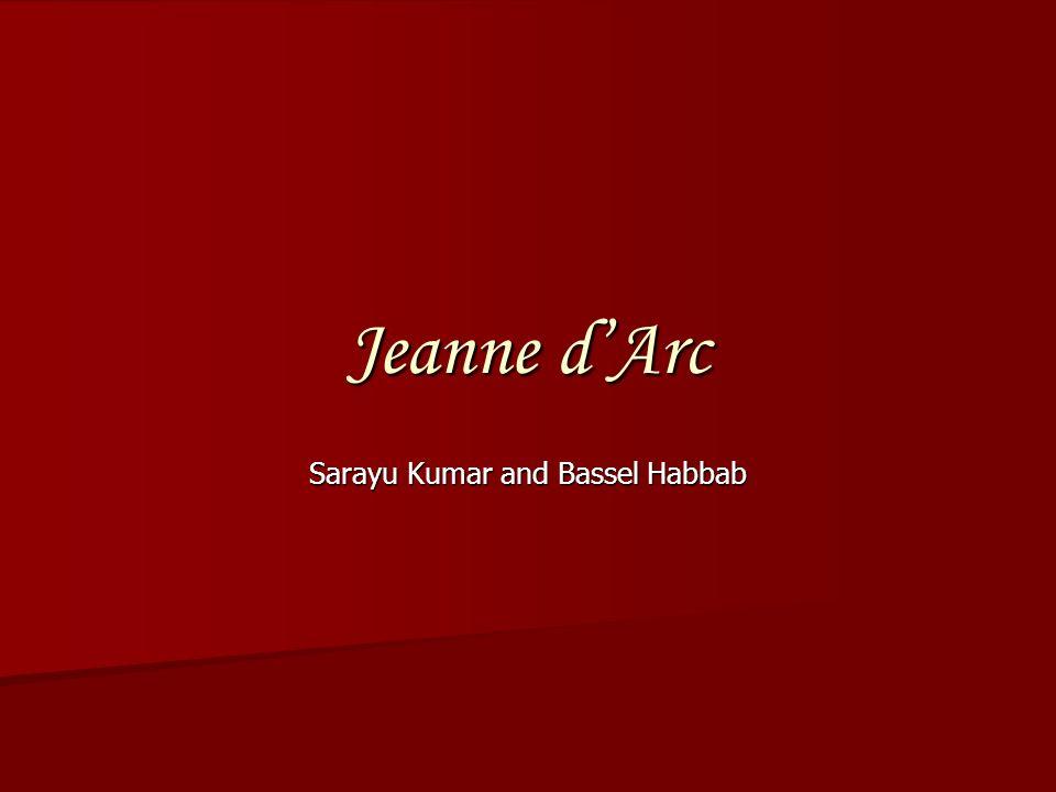 Jeanne dArc Sarayu Kumar and Bassel Habbab