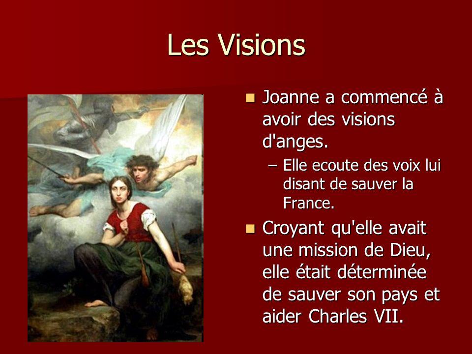 Jeanne et Charles VII 1429 - Jeanne d Arc rencontre Charles VII, le roi de France, à Chinon 1429 - Jeanne d Arc rencontre Charles VII, le roi de France, à Chinon Elle lui parle de ses visions et sa conviction que la France peut battre l Angleterre.
