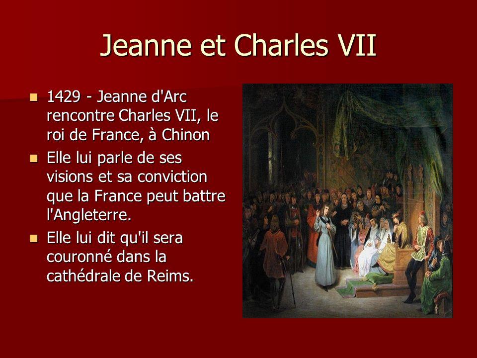 Le Mars à Orléans Avril 1429: Jeanne quitte Chinon Avril 1429: Jeanne quitte Chinon Elle avait 18 ans Elle avait 18 ans elle portait une ancienne épée et une bannière blanche elle portait une ancienne épée et une bannière blanche