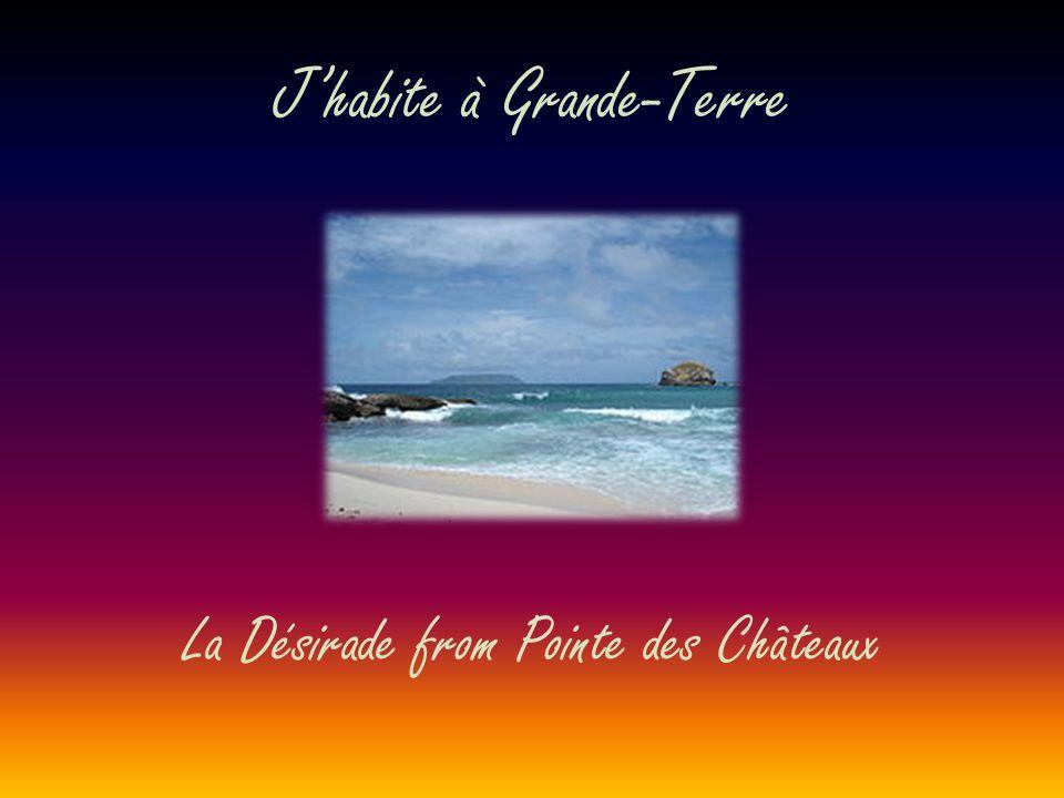Jhabite à Grande-Terre La Désirade from Pointe des Châteaux