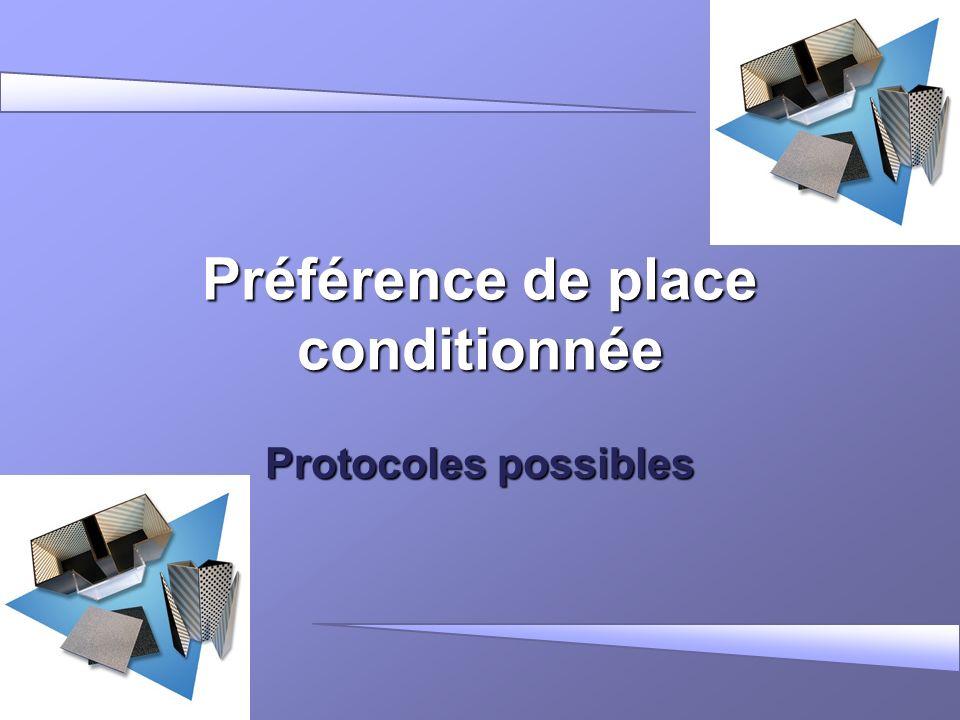 Préférence de place conditionnée Protocoles possibles