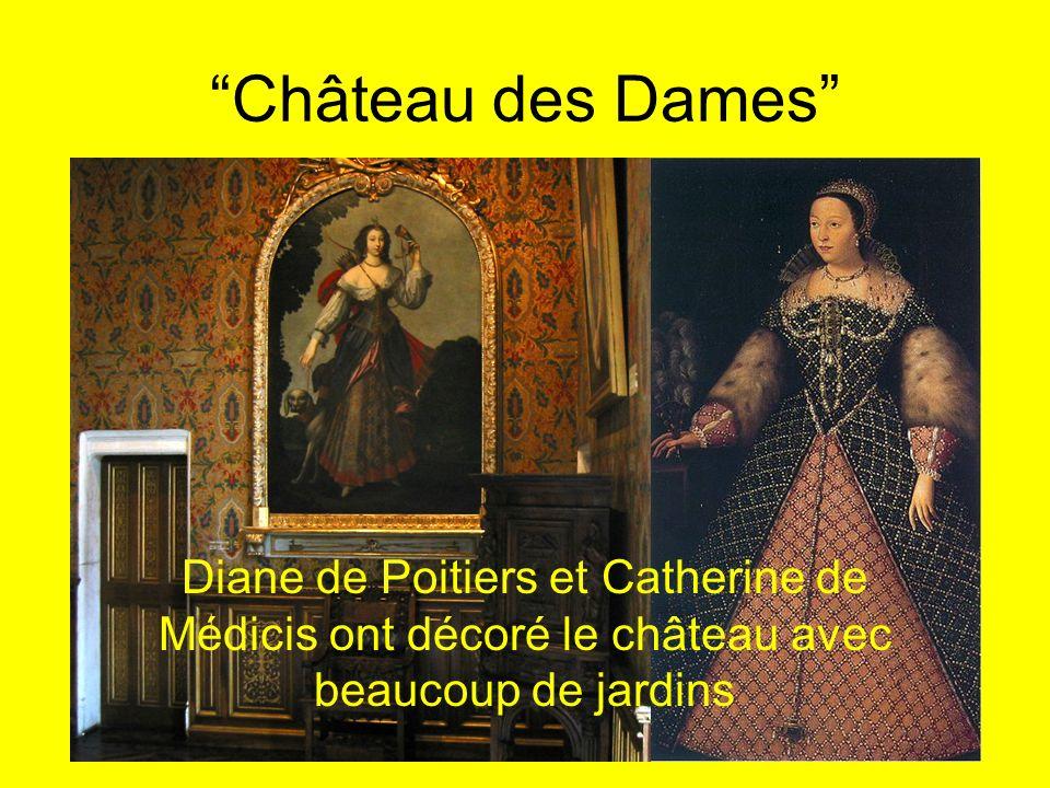 Château des Dames Diane de Poitiers et Catherine de Médicis ont décoré le château avec beaucoup de jardins