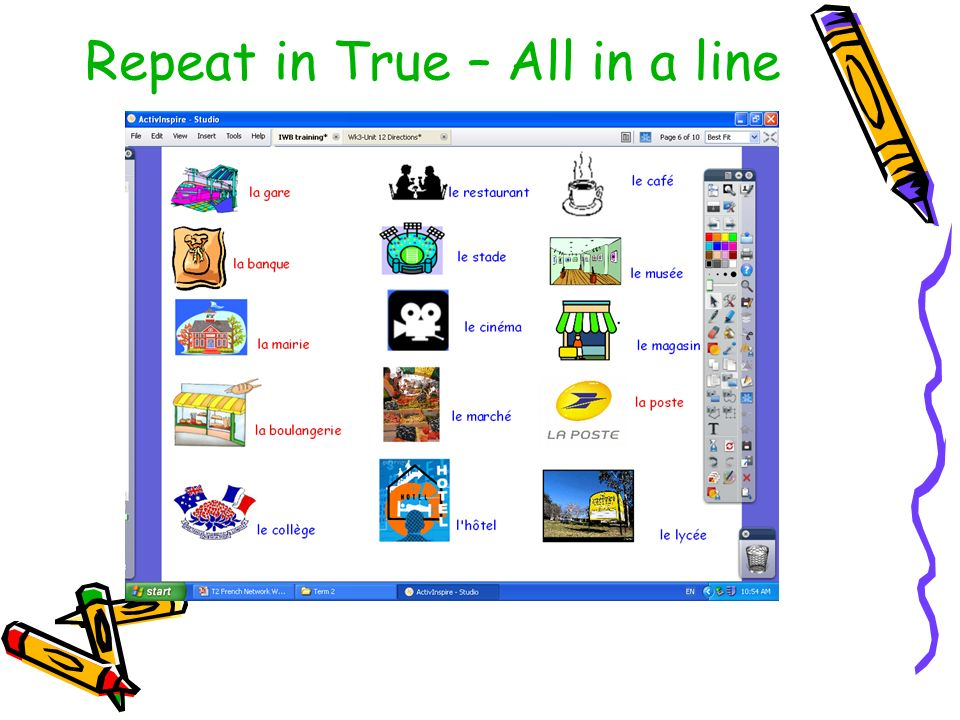 Repeat in True – All in a line