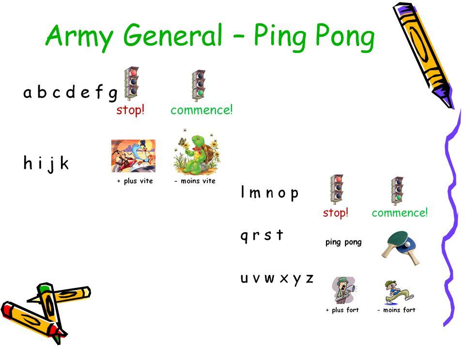 Army General – Ping Pong