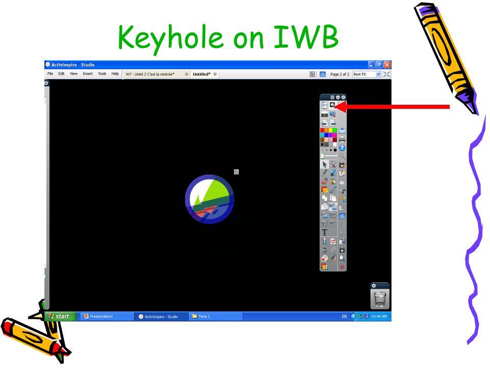 Keyhole on IWB