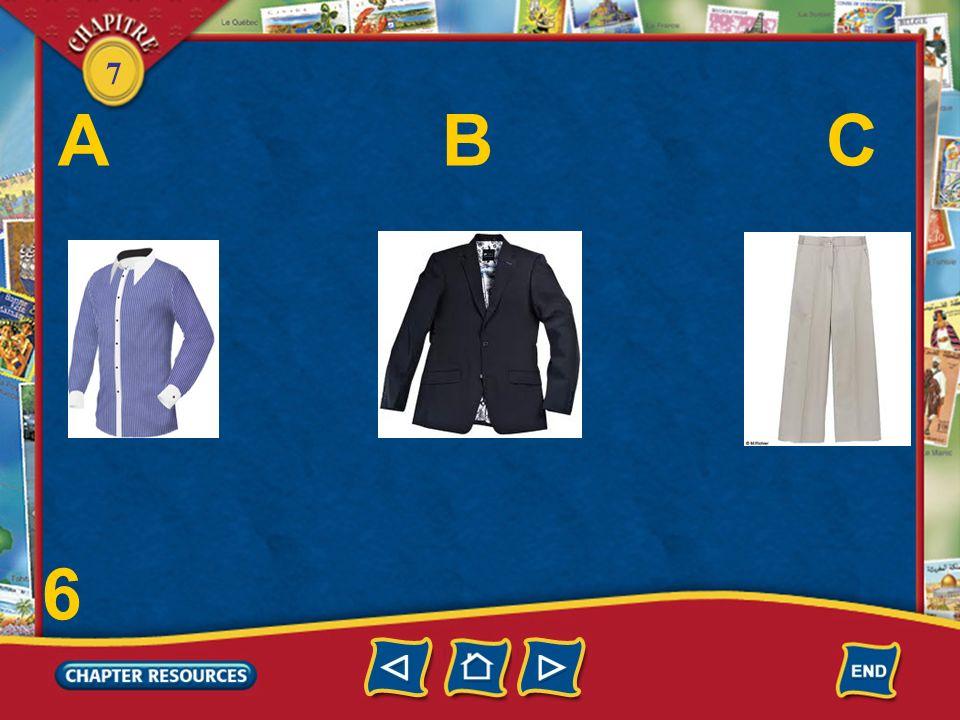 7 Choose. 4. Le pantalon est _____ cher parce quil est en solde.