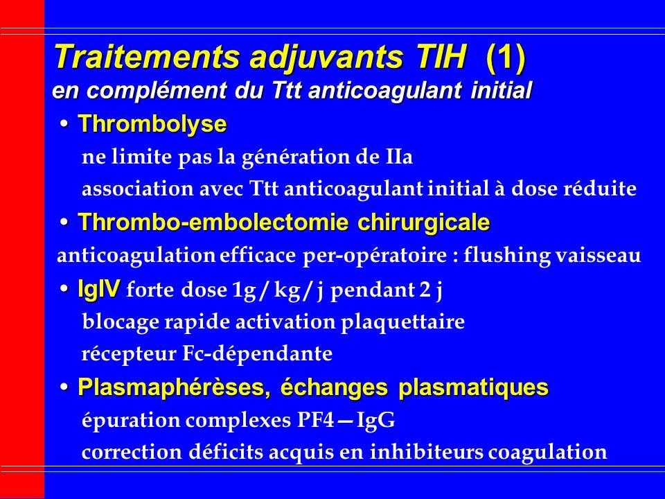 Traitement anticoagulant prolongé lors TIH : AVK (2) Risque de gangrène veineuse induite par AVK cause damputation liée à thromboses microcirculation