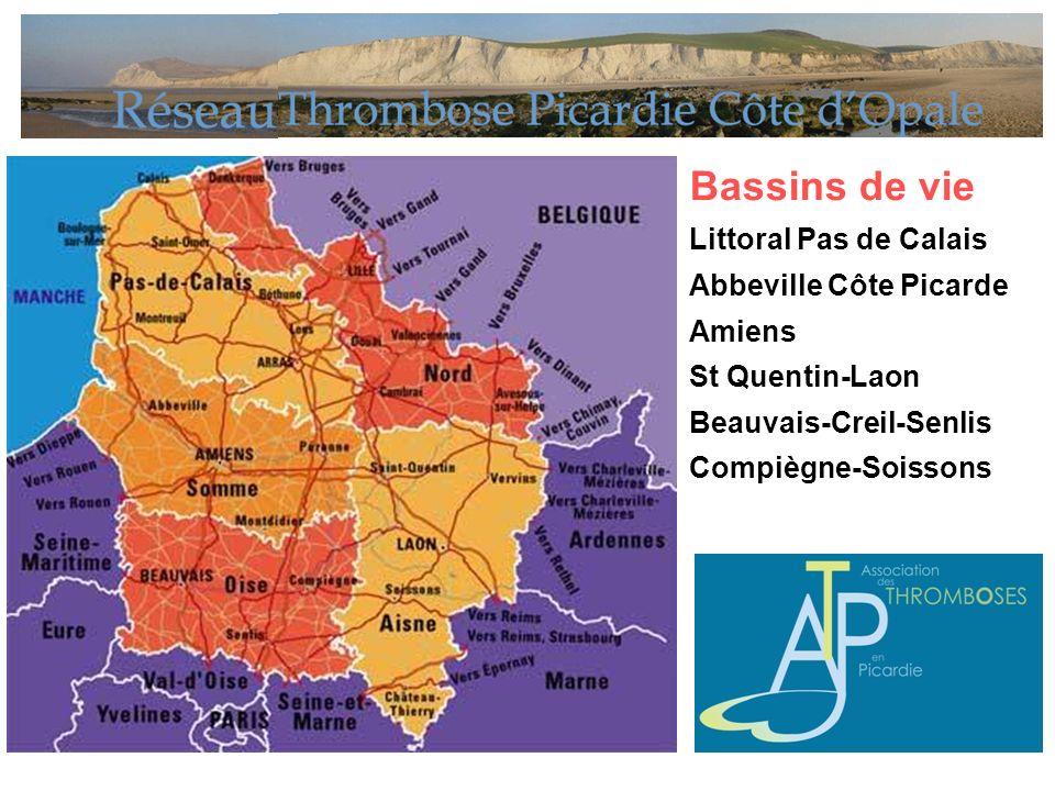Bassins de vie Littoral Pas de Calais Abbeville Côte Picarde Amiens St Quentin-Laon Beauvais-Creil-Senlis Compiègne-Soissons