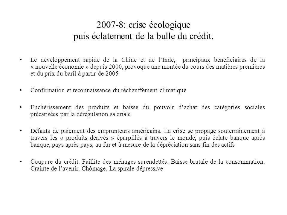 2007-8: crise écologique puis éclatement de la bulle du crédit, Le développement rapide de la Chine et de lInde, principaux bénéficiaires de la « nouv