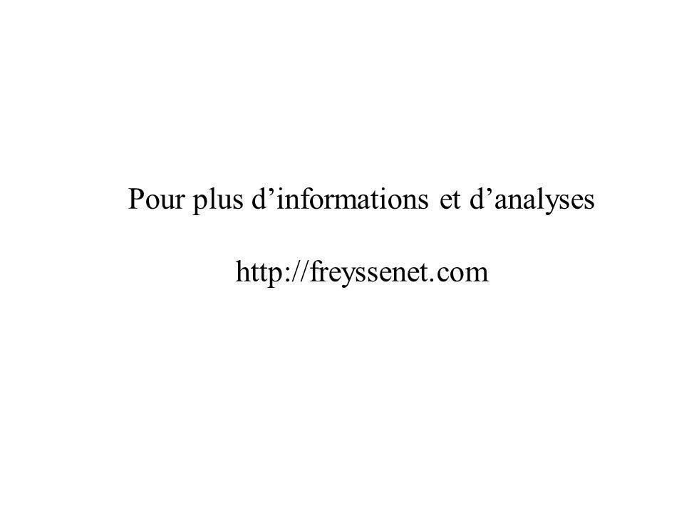 Pour plus dinformations et danalyses http://freyssenet.com