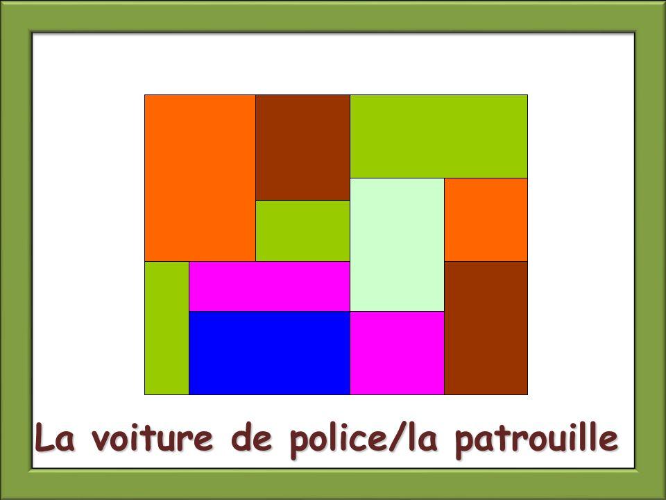La voiture de police/la patrouille