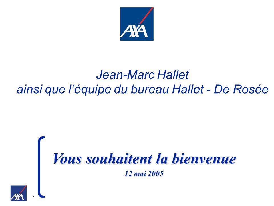 1 Vous souhaitent la bienvenue 12 mai 2005 Jean-Marc Hallet ainsi que léquipe du bureau Hallet - De Rosée