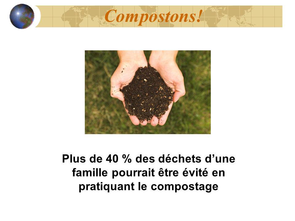 Compostons! Plus de 40 % des déchets dune famille pourrait être évité en pratiquant le compostage