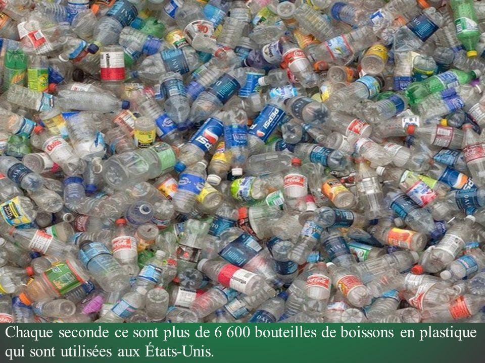 Chaque seconde ce sont plus de 6 600 bouteilles de boissons en plastique qui sont utilisées aux États-Unis.