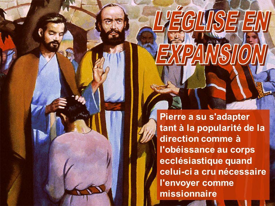 Pierre a su s'adapter tant à la popularité de la direction comme à l'obéissance au corps ecclésiastique quand celui-ci a cru nécessaire l'envoyer comm