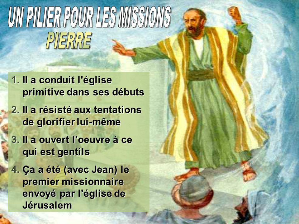 Pierre a pris la direction du petit groupe de croyants et il a été préoccupé de exaltent toujours Jesus; tant comme l auteur des miracles, comme celui qui mérite uniquement adoration