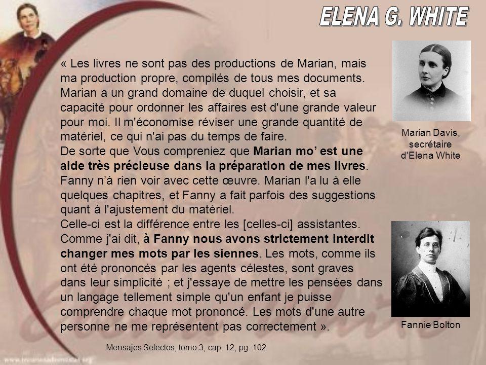 « Les livres ne sont pas des productions de Marian, mais ma production propre, compilés de tous mes documents.