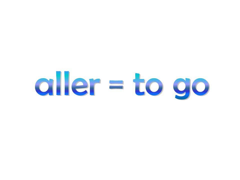 Aller: Present Je vais I go Nous allons We go Tu vas You go Vous allez You go Il/Elle/On va He/she goes Ils/Elles vont They go