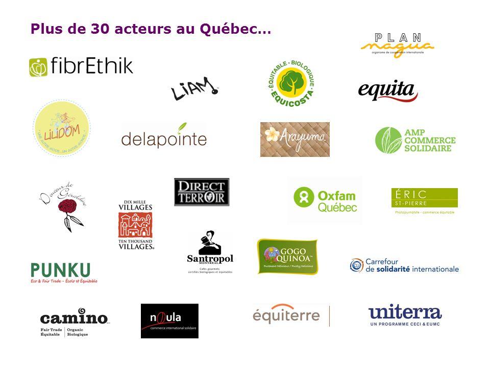 Plus de 30 acteurs au Québec…