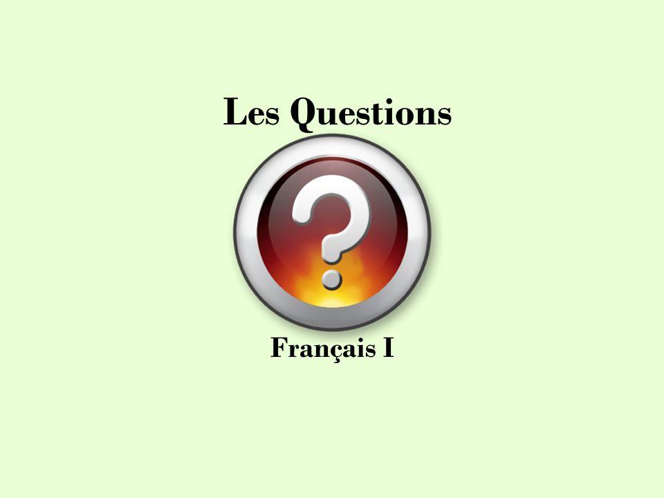 Les Questions Français I
