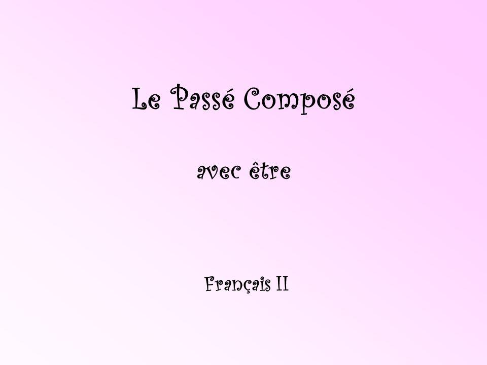 Le Passé Composé avec avoir révision...The passé composé consists of two words.