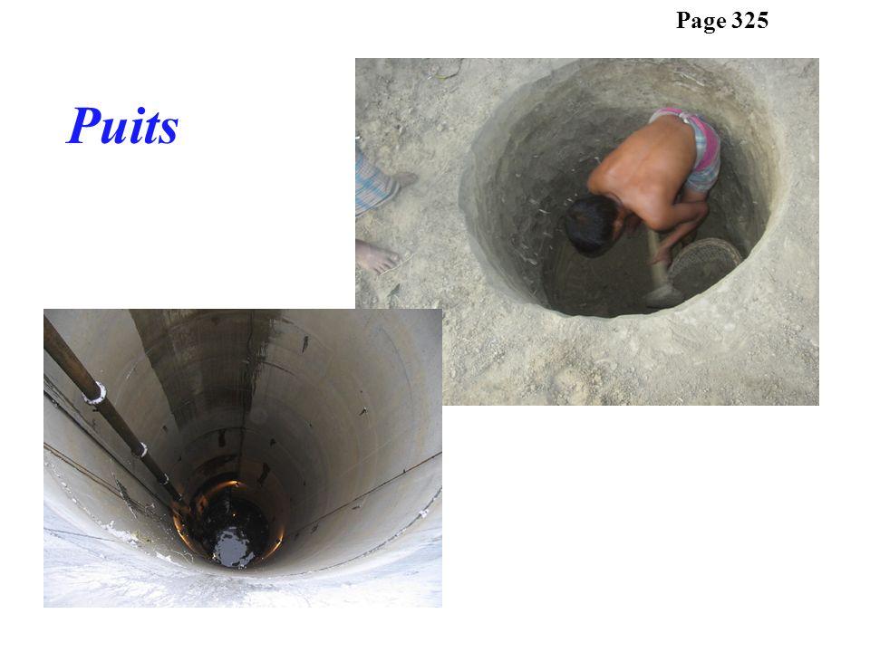 Leau souterraine sécoule naturellement vers la surface.