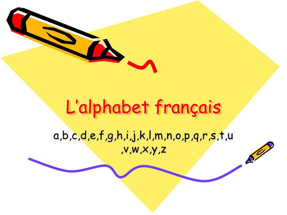 Lalphabet français a,b,c,d,e,f,g,h,i,j,k,l,m,n,o,p,q,r,s,t,u,v,w,x,y,z