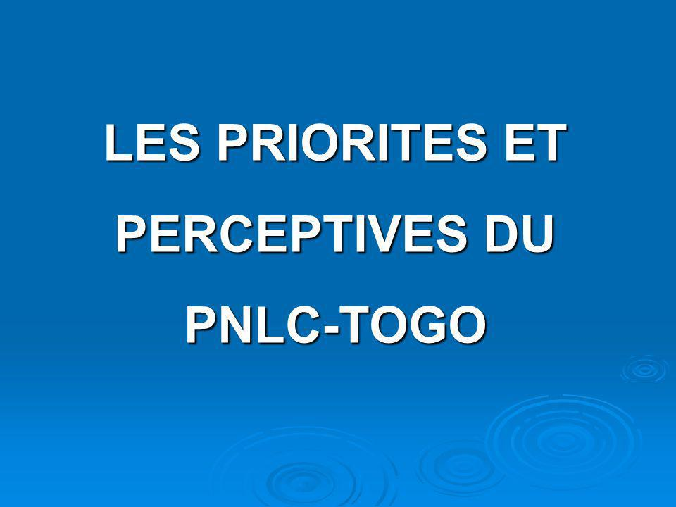 LES PRIORITES ET PERCEPTIVES DU PNLC-TOGO