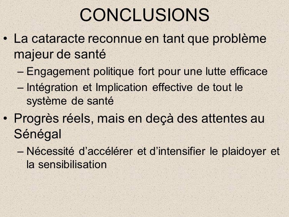 Opportunités de la Chirurgie de la cataracte au Sénégal Nouvelles orientations de la Politique de santé –Approche communautaire (relais et agents de s