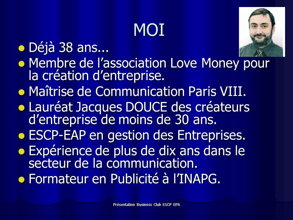 Présentation Business Club ESCP EPA MA PREMIERE ENTREPRISE Les Editions Au Fil du Temps