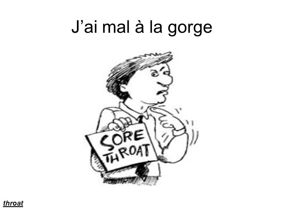 Jai mal à la gorge throat