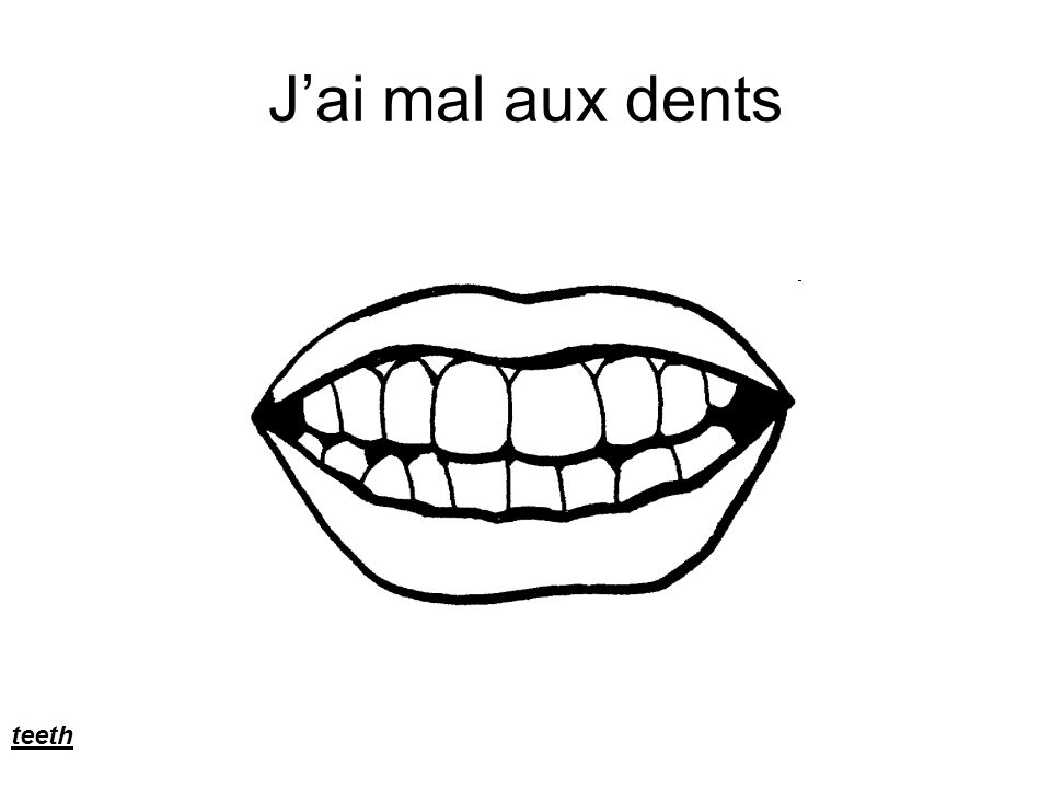 Jai mal aux dents teeth